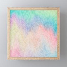 Rainbow Unicorn Fur Framed Mini Art Print