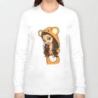 onesie Long Sleeve T-shirts featuring Bear Onesie by Milou Baars