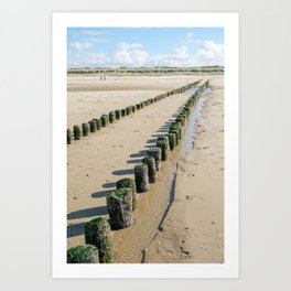 Wooden Breakwater I | Beach Breskens The Netherlands | Landscape Nature Photography Art Print