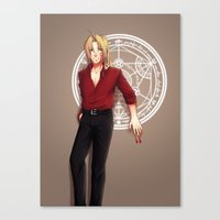 fullmetal alchemist Canvas Prints featuring Seal of an Alchemist by TEAM JUSTICE ink.