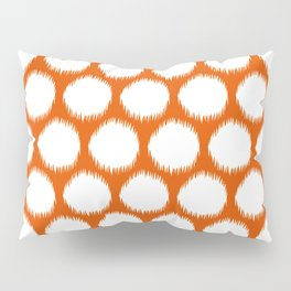 Persimmon Asian Moods Ikat Dots Pillow Sham