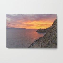 Amazing sunset wall art Metal Print