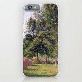 Camille Pissarro Haystacks, Morning, Éragny iPhone Case