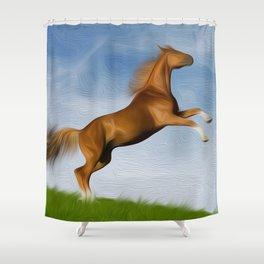Jumping Wild Horse Shower Curtain