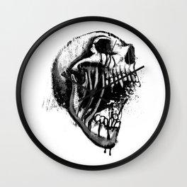 Melting Primal Scream - Skull Wall Clock