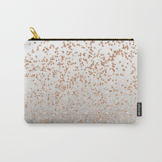 Glitter sparkle mix - rose gold & silver Carry-All Pouch