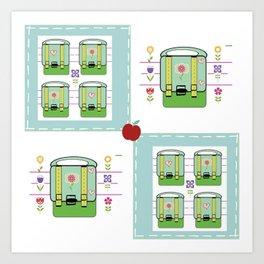 Backpack  Quilt -Apple Art Print
