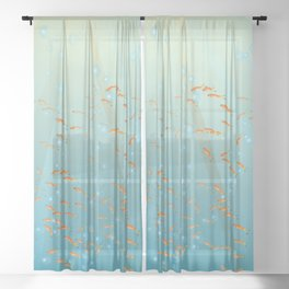 Inspirational Sea Turtle Sheer Curtain