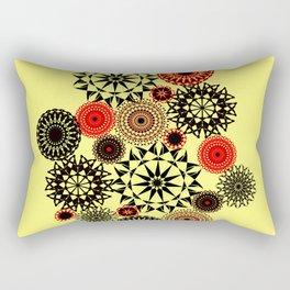 Black/Red Pattern Rectangular Pillow
