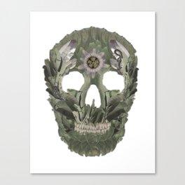 Jungle Skull Canvas Print