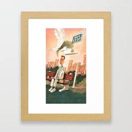 Forrest Gump Tribute Framed Art Print