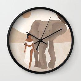 Spirit Animal – Elephant Wall Clock