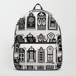 Moroccan Doors – Black Palette Backpack
