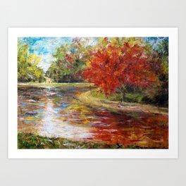 Red Nature Art Print