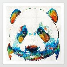 Colorful Panda Bear Art By Sharon Cummings Art Print