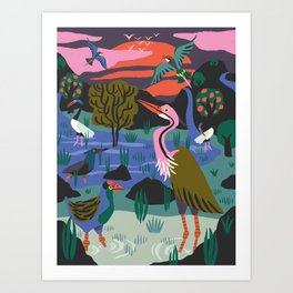 Bird Reserve Art Print