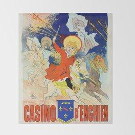 1890 Casino Enghien France Throw Blanket
