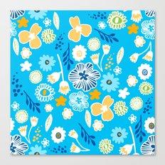 swedish summer blue Canvas Print