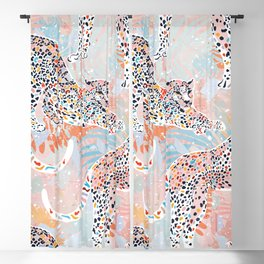 Colorful Wild Cats Blackout Curtain