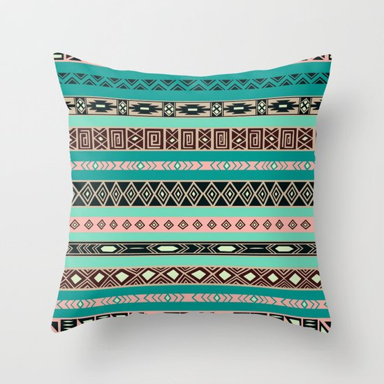 Aztec Tribal Pattern Throw Pillow By Rexlambo Society6