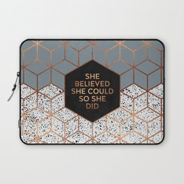 She Believed She Could 4 Laptop Sleeve
