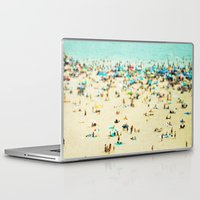 joy Laptop & iPad Skins featuring Coney Island Beach by Mina Teslaru