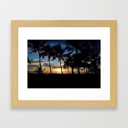Hawaii Sunset Photo Framed Art Print