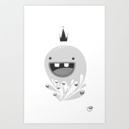 King Lip of the Squiggles Art Print