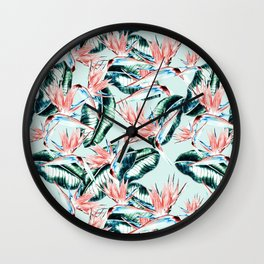 Pattern botanical Wall Clock