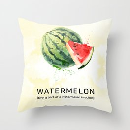 Fun with Fruits - Watermelon Throw Pillow
