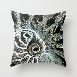 Pyrite after Ammonite Throw Pillow