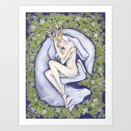 The White Doe Art Print