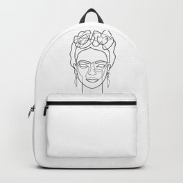 Woman Hair Dos Drawing in One Line Backpack