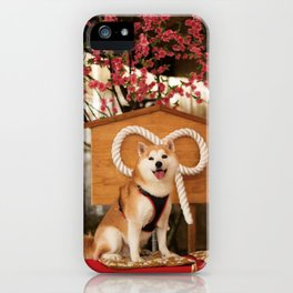Kuma: Sakura tree and Shiba iPhone Case