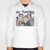 enerjax Hoodies featuring It's Tuesday by enerjax