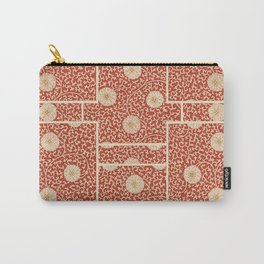 70's Red Floral Carry-All Pouch