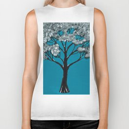 Blooming Tree Biker Tank