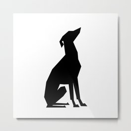 Italian Greyhound Silhouette Metal Print