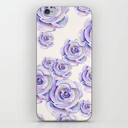 Puple Rose Painting iPhone Skin