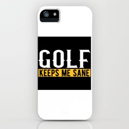 Golf Lovers Gift Idea Design Motif iPhone Case