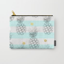 Pineapple express - aqua stripe gold splat Carry-All Pouch