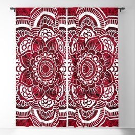 Mandala Red Colorburst #authentic Blackout Curtain