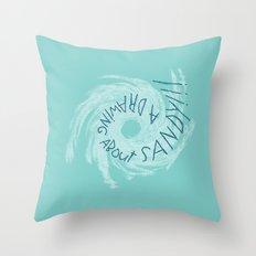 SANDY!!! Throw Pillow