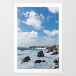 Bedruthan Steps Newquay Cornwall Art Print