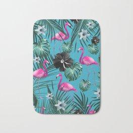 Tropical Flamingo Flower Jungle #1 #tropical #decor #art #society6 Bath Mat