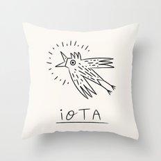 The iOTA Bird Throw Pillow