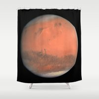 bruno mars Shower Curtains featuring Mars by anipani