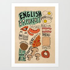 English Breakfast Art Print
