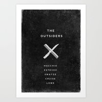A MOVIE POSTER A DAY: THE OUTSIDERS Art Print