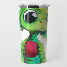 Lime green Bitty Baby Dragon Travel Mug
